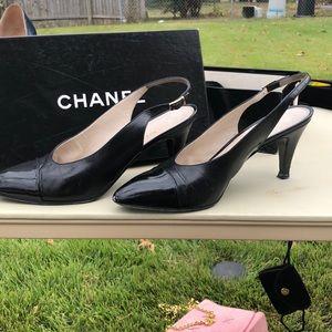 Chanel Sling back heels